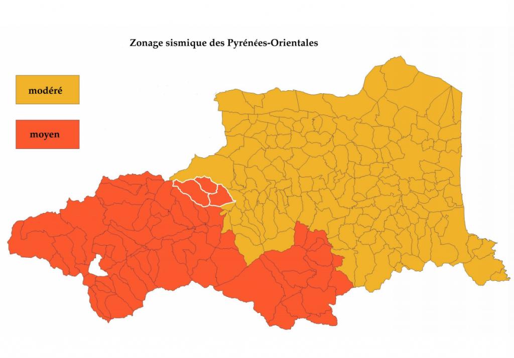 Zone Sismique Pyrénées-Orientales